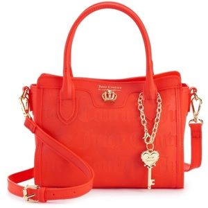 New Red Juicy Couture Clear Skies Mini Satchel